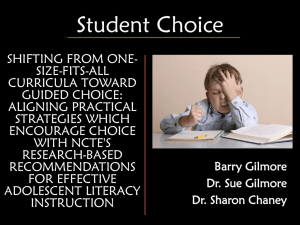 Choice PPT - barrygilmore