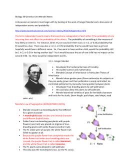 Section 11-3 Exploring Mendelian Genetics (pages 270-274)