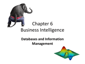 Chapter 5 Business Intelligence - UTPB