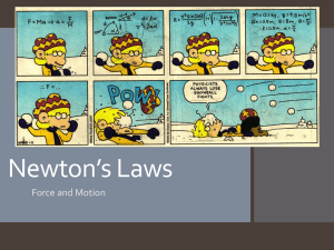 Newton's Laws Notes