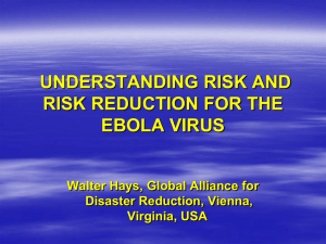 understanding risk and risk reduction for the ebola virus