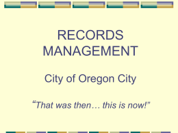 Records Management Presentation