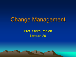 Change Mgt Lecture 20