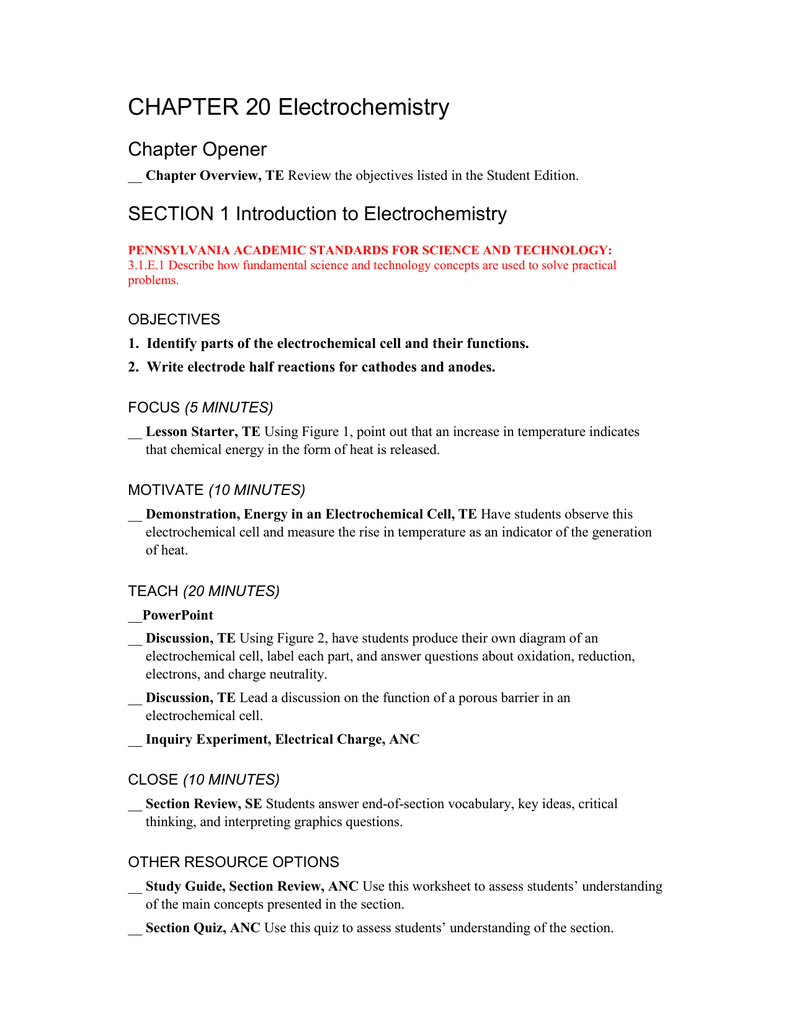 chapter 20 electrochemistry rh studylib net Antigone Study Guide Answers Fahrenheit 451 Study Guide Answers