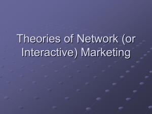 Theories of Network (or Interactive) Marketing