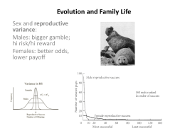 Evolution and Family Life - Southeastern Louisiana University