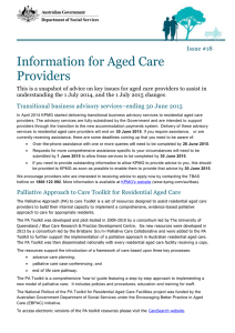 Issue #18 of the Information for Aged Care Providers Newsletter