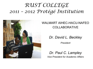 Rust College - MSI Student Success