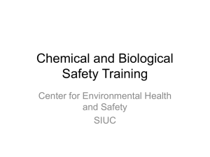 Chemical And Biological Safety Training