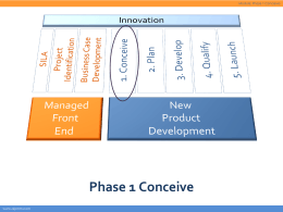 Phase 1 Conceive
