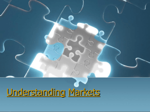Understanding Markets and Customers