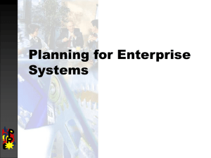 Production planning & enterprise systems
