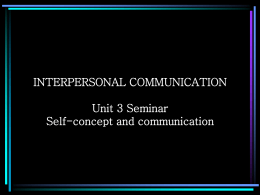 INTERPERSONAL COMMUNICATION CHAPTER 2
