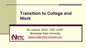 Transition to College and Work