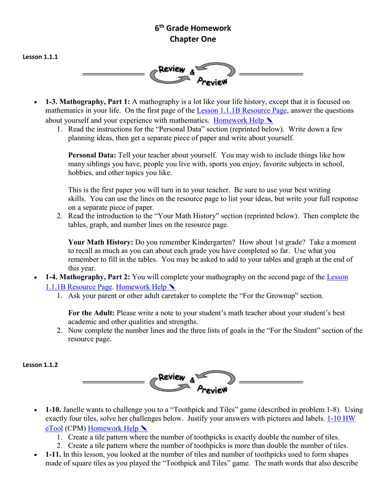 Chapter 1 Homework - Mecca-Math