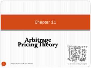 Arbitrage Pricing Theory