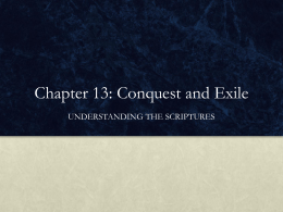 Chapter 13: Conquest and Exile