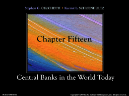 Chapter 15 Central Banks in the World Today
