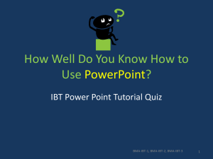 PowerPoint Tutorials Quiz
