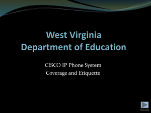 Phone Coverage and Etiquette - West Virginia Department of