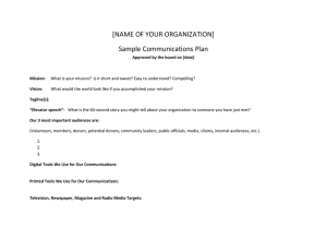 Sample communications plan template