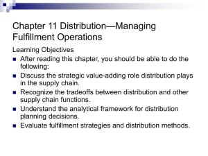 The Management of Business Logistics Chapter 5