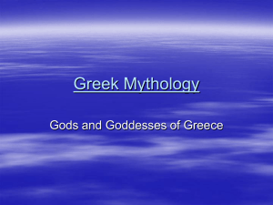 Greek Mythology - Brookwood High School