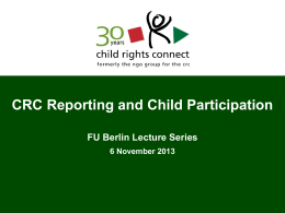 How Children can Participate CRC reporting