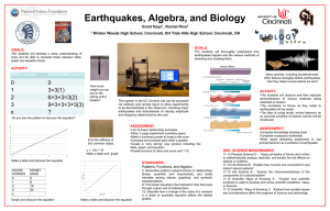 Project 6 Classroom Implementation Plan Posters: Earthquakes
