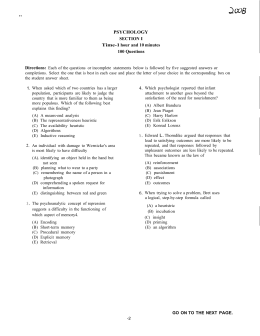Multiple-Choice Answer Key - Katy Independent School District