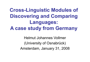 Cross-Linguistic Projects