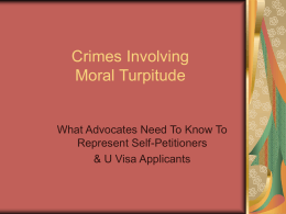 Crimes Involving Moral Turpitude