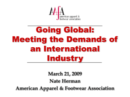 Going Global: Meeting the Demands of an International Industry