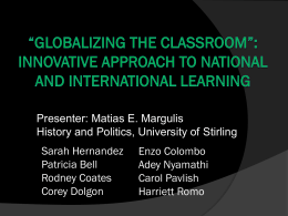PD1 - Margulis - Globalizing Classroom