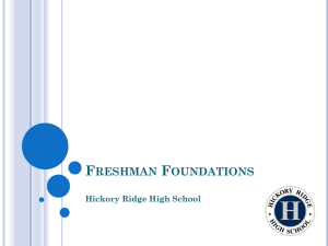 Freshman Foundations - Cabarrus County Schools