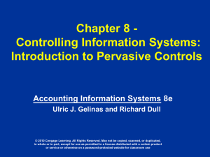 Chapter 8 - Controlling Information Systems