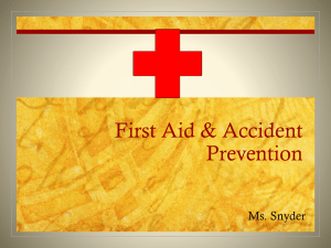 First Aid & Accident Prevention