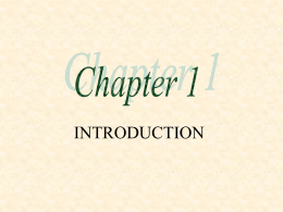 INTRODUCTION: Chapter I