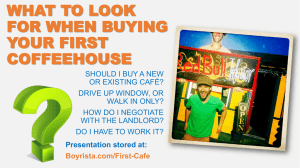 Buying First Cafe – Levi Andersen