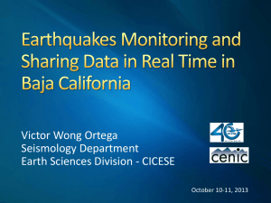 Eartquakes Monitoring and Sharing Data in Real Time in