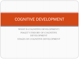 cognitive development - The State University of Zanzibar