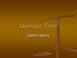 Geologic Time - Cal State LA