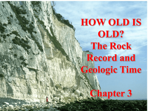 HOW OLD IS OLD? The Rock Record and Geologic Time Chapter 3