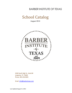 barber technician course units