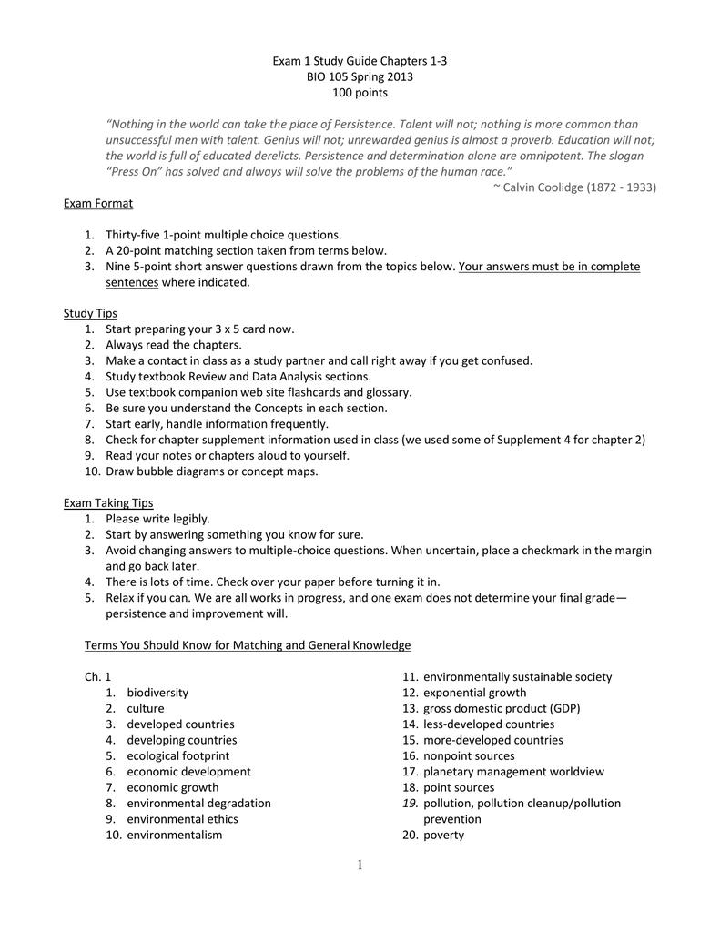 105-Exam-1-Study