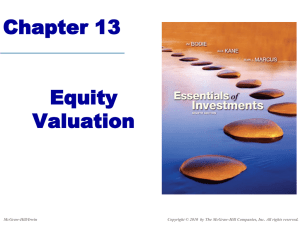 Chapter 13: Equity Valuation