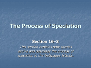 Section 16–3 The Process of Speciation