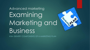 Marketing Plan Components
