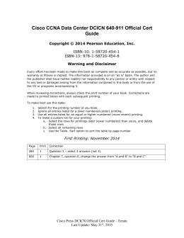 Cisco CCNA Data Center DCICN 640