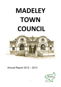 Accounts 2012 – 2013 - Madeley Town Council